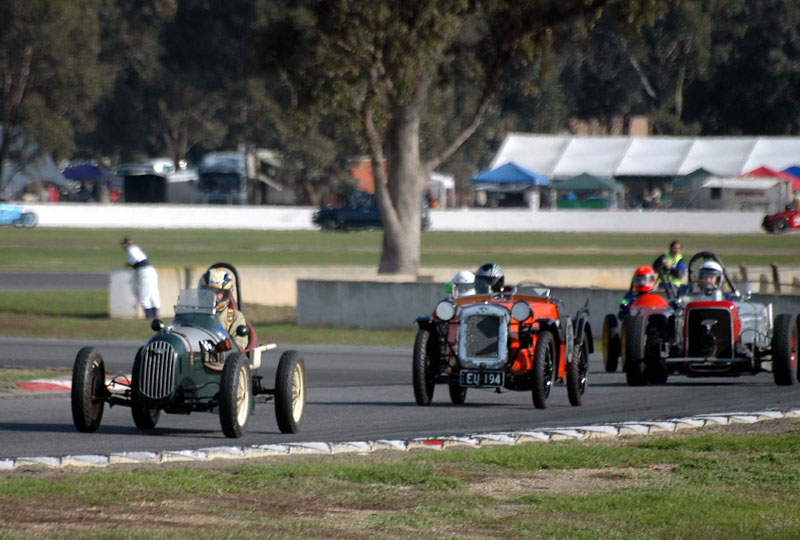 Austin 7s at Winton 2008
