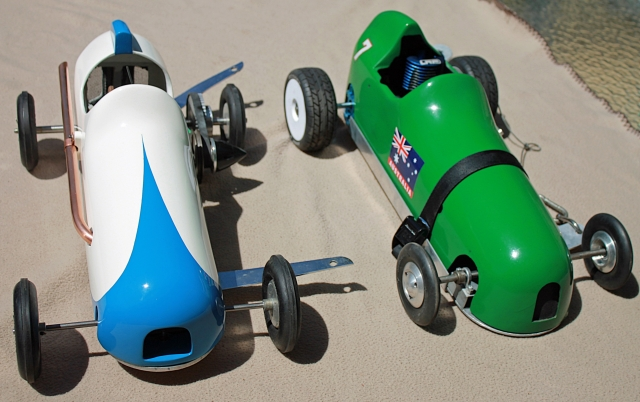 Two home-built Tethercars now completed